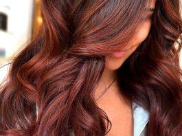dark brownish reddish hair color
